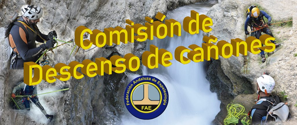 Descenso de Cañones, Federación Andaluza de Espeleología y Descenso de Cañones